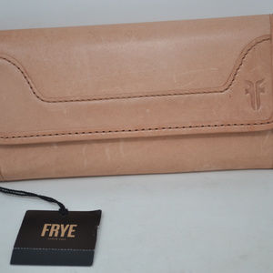 Frye Melissa Dusty Rose Zip Around LeatherWallet